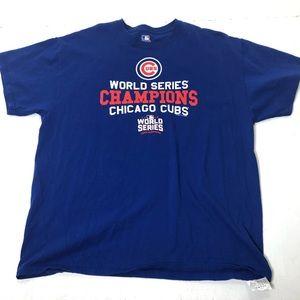 Men's Size XL Chicago Cubs World Series Tee Shirt